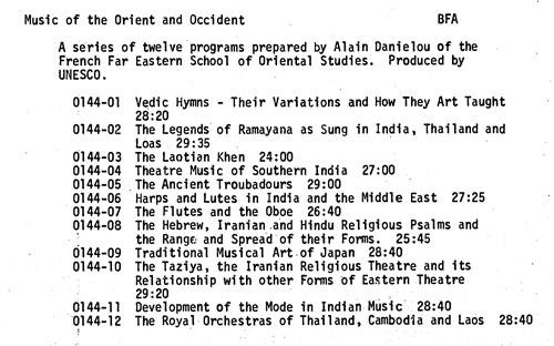 KRAB-FM, Seattle - Programs: Music programming of the 1960's