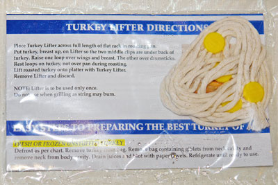 Turkey Lifter instructions