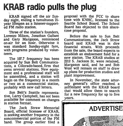 KRAB radio pulls the plug