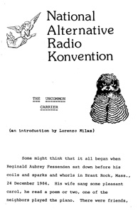 National alternative Radio Konvention