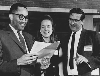 Simon Ottenberg, right; Judge Charles Z Smith, left; Mary Lindquist, center