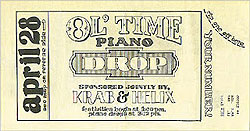 Piano Drop ticket