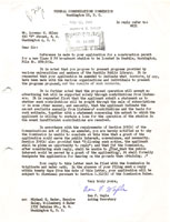 Letter to Milam from FCC 1960-07-13